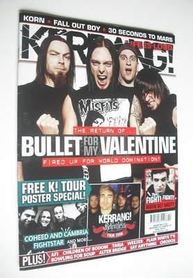 <!--2008-01-12-->Kerrang magazine - Bullet For My Valentine cover (12 Janua