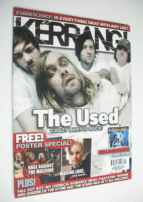 <!--2007-05-26-->Kerrang magazine - The Used cover (26 May 2007 - Issue 116