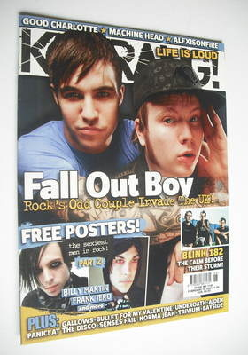 <!--2007-02-10-->Kerrang magazine - Fall Out Boy cover (10 February 2007 -