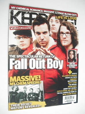 <!--2007-01-20-->Kerrang magazine - Fall Out Boy cover (20 January 2007 - I