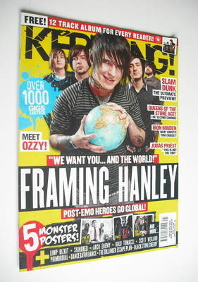 <!--2011-05-28-->Kerrang magazine - Framing Hanley cover (28 May 2011 - Iss