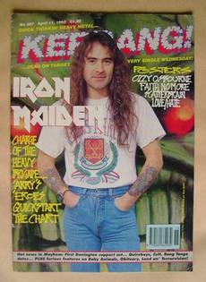 <!--1992-04-11-->Kerrang magazine - Steve Harris cover (11 April 1992 - Iss