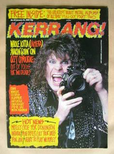 <!--1989-01-14-->Kerrang magazine - Ozzy Osbourne cover (14 January 1989 -