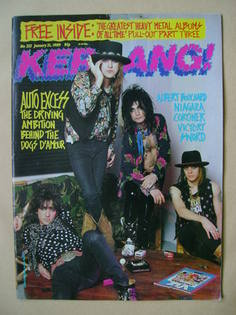 <!--1989-01-21-->Kerrang magazine - Dogs D'Amour cover (21 January 1989 - I