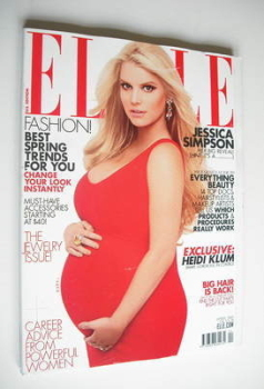US Elle magazine - April 2012 - Jessica Simpson cover