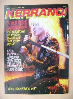 <!--1989-02-11-->Kerrang magazine - Janet Gardner cover (11 February 1989 -