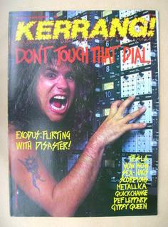 <!--1989-02-25-->Kerrang magazine - Steve Sousa cover (25 February 1989 - I