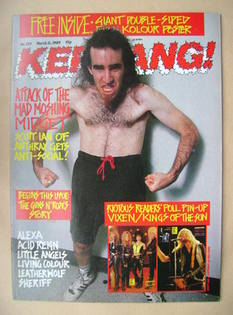 <!--1989-03-11-->Kerrang magazine - Scott Ian cover (11 March 1989 - Issue