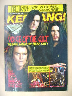 <!--1989-03-25-->Kerrang magazine - The Cult cover (25 March 1989 - Issue 2