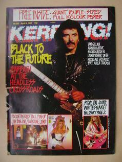 <!--1989-04-08-->Kerrang magazine - Tony Iommi cover (8 April 1989 - Issue