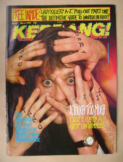 <!--1989-05-06-->Kerrang magazine - Ozzy Osbourne cover (6 May 1989 - Issue