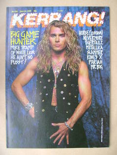 <!--1989-06-24-->Kerrang magazine - Mike Tramp cover (24 June 1989 - Issue