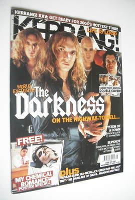 <!--2005-11-12-->Kerrang magazine - The Darkness cover (12 November 2005 -
