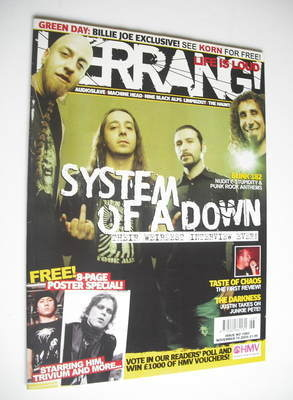 <!--2005-11-19-->Kerrang magazine - System Of A Down cover (19 November 200
