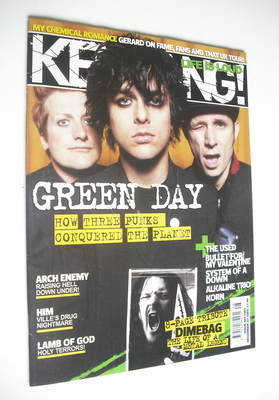 <!--2005-12-03-->Kerrang magazine - Green Day cover (3 December 2005 - Issu