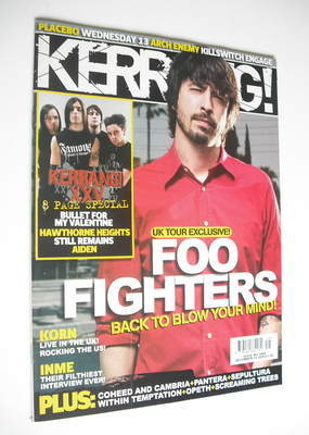 <!--2005-12-10-->Kerrang magazine - Dave Grohl cover (10 December 2005 - Is