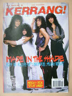 <!--1989-08-12-->Kerrang magazine - Kiss cover (12 August 1989 - Issue 251)