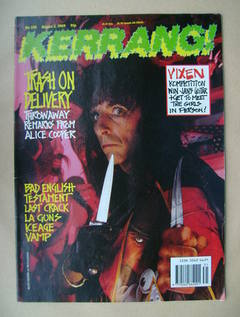 <!--1989-08-05-->Kerrang magazine - Alice Cooper cover (5 August 1989 - Iss