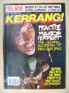 <!--1989-07-22-->Kerrang magazine - Chuck Billy cover (22 July 1989 - Issue