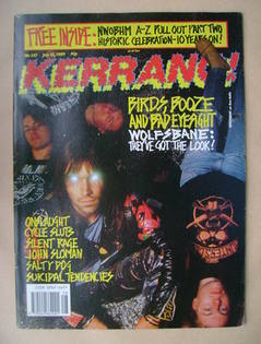 <!--1989-07-15-->Kerrang magazine - Wolfsbane cover (15 July 1989 - Issue 2