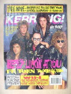 <!--1989-07-29-->Kerrang magazine - FM cover (29 July 1989 - Issue 249)