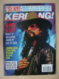 <!--1989-07-08-->Kerrang magazine - Jim Martin cover (8 July 1989 - Issue 2