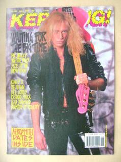 <!--1989-07-01-->Kerrang magazine - Billy Sheehan cover (1 July 1989 - Issu