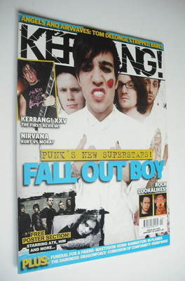 <!--2006-01-28-->Kerrang magazine - Fall Out Boy cover (28 January 2006 - I