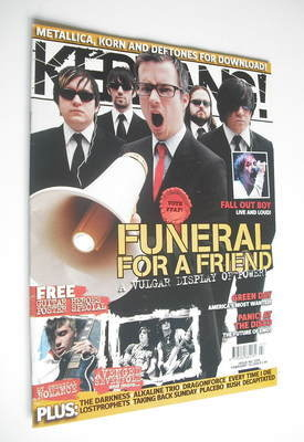 <!--2006-02-18-->Kerrang magazine - Funeral For A Friend cover (18 February