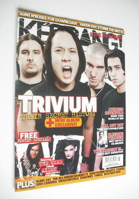 <!--2006-02-25-->Kerrang magazine - Trivium cover (25 February 2006 - Issue