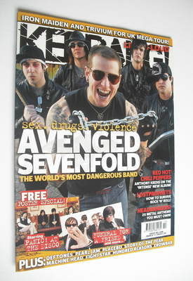 <!--2006-03-11-->Kerrang magazine - Avenged Sevenfold cover (11 March 2006