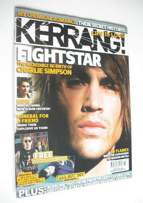 <!--2006-03-18-->Kerrang magazine - Charlie Simpson cover (18 March 2006 -