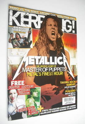 <!--2006-04-01-->Kerrang magazine - Metallica cover (1 April 2006 - Issue 1