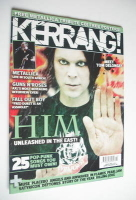 <!--2006-04-08-->Kerrang magazine - HIM Ville Valo cover (8 April 2006 - Issue 1102)