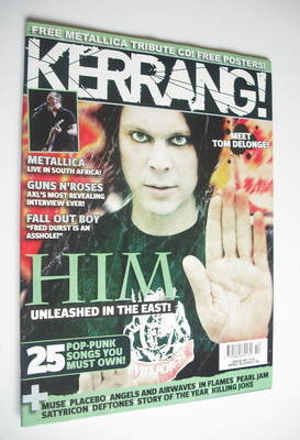 <!--2006-04-08-->Kerrang magazine - HIM Ville Valo cover (8 April 2006 - Is