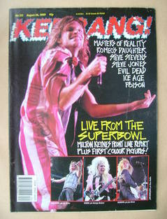 <!--1989-08-26-->Kerrang magazine - Jon Bon Jovi cover (26 August 1989 - Is