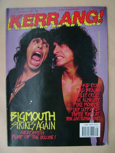 <!--1989-09-02-->Kerrang magazine - Steven Tyler and Joe Perry cover (2 Sep