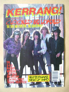 <!--1989-10-14-->Kerrang magazine - The Quireboys cover (14 October 1989 -
