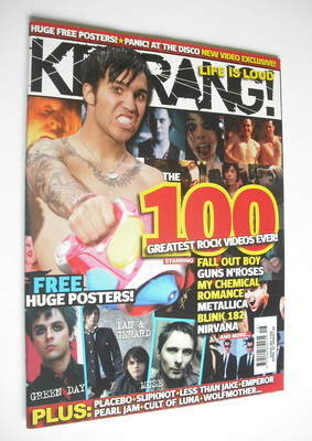 <!--2006-04-22-->Kerrang magazine - The 100 Greatest Rock Videos Ever cover