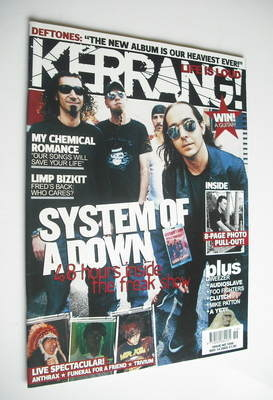 <!--2005-05-14-->Kerrang magazine - System Of A Down cover (14 May 2005 - I