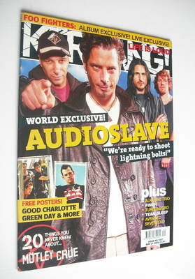 <!--2005-05-21-->Kerrang magazine - Audioslave cover (21 May 2005 - Issue 1