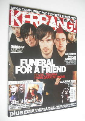 <!--2005-05-28-->Kerrang magazine - Funeral For A Friend cover (28 May 2005