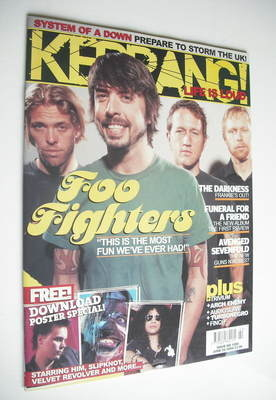 <!--2005-06-04-->Kerrang magazine - Foo Fighters cover (4 June 2005 - Issue