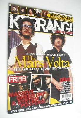 <!--2005-07-02-->Kerrang magazine - The Mars Volta cover (2 July 2005 - Iss