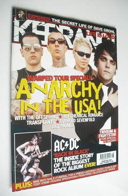 <!--2005-07-16-->Kerrang magazine - Anarchy In The USA cover (16 July 2005