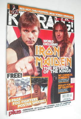 <!--2005-07-23-->Kerrang magazine - Iron Maiden cover (23 July 2005 - Issue