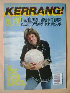 <!--1989-10-21-->Kerrang magazine - Ozzy Osbourne cover (21 October 1989 -