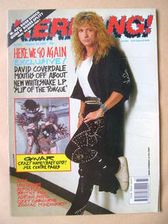 <!--1989-10-28-->Kerrang magazine - David Coverdale cover (28 October 1989