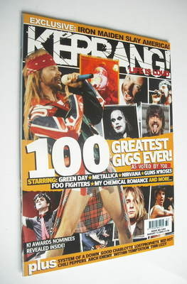<!--2005-08-13-->Kerrang magazine - 100 Greatest Gigs Ever cover (13 August
