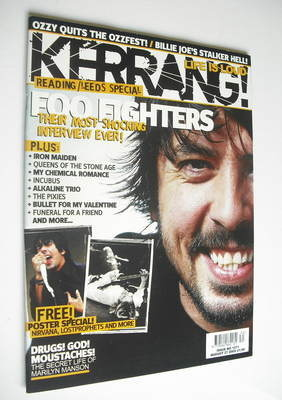 <!--2005-08-27-->Kerrang magazine - Dave Grohl cover (27 August 2005 - Issu